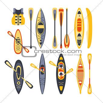 Canoe Sport Equipment Set