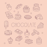 Chocolate Related Object Set With Text