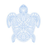 Turtle Stylised Doodle Zen Coloring Book Page