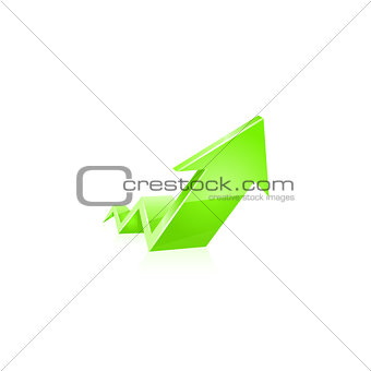 Green glossy arrow icon