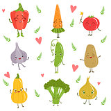 Funny Girly Design Vegetables Set