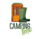 Camping time logo