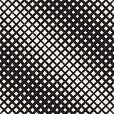 Vector Seamless Black And White Diagonal Halftone Rhombus Pattern
