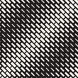 Vector Seamless Black And White Diagonal Halftone Rectangle Pattern