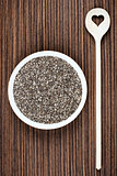 Chia Seeds with Heart Spoon