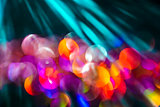 Colorful Bokeh with Sun Rays