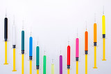 Syringes Colorful