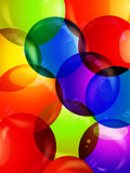 Colourful bubble close up background