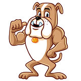 Bulldog Cartoon Mascot Character