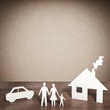 3D rendering paper family