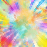 Pop-art colourful burst