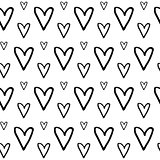 Hand Drawn Heart Pattern