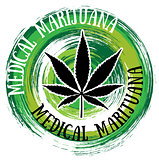 medical cannabis marijuana leaf green textured background