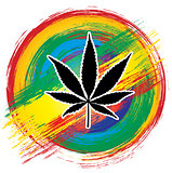 medical cannabis marijuana leaf design