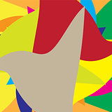 Colored hypnotic Abstract background. Vector Illustration.
