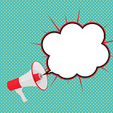 Megaphone with Sheesh and Speech Bubble Vector Illust