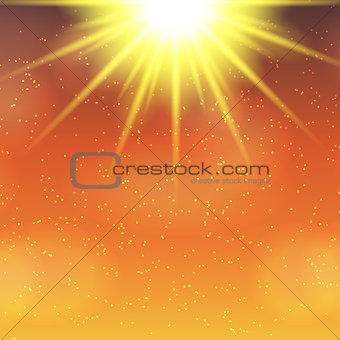 Abstract Magic Light Background Vector Illustration