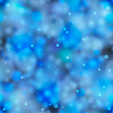 Blue magic light in the dark, seamless pattern