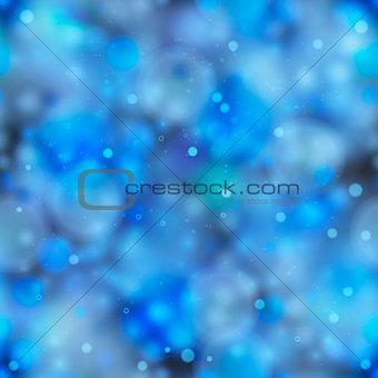 Blue magic light in the dark, seamless pattern
