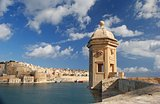 Watchtower in Senglea, Malta.