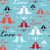 Pattern of lovers birds