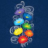 Glowing Chakras lotuses