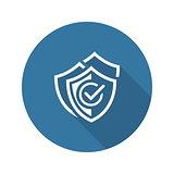 Multilevel Security Icon. Flat Design.