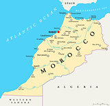 Morocco Political Map
