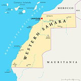 Western Sahara Political Map