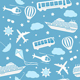 Seamless vector pattern background travel