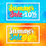 Summer Sale Website Horizontal Banners with White Frame