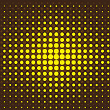 Brown and yellow halftone background