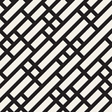 Vector Seamless Black and White Geometric Diagonal Lines Irregular Pattern