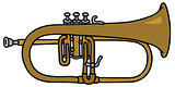 Classic brass trumpet