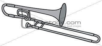 Classic silver trombone