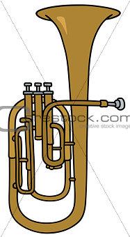 Classic brass bombardone