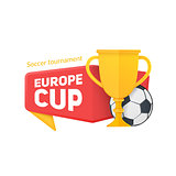 Europe soccer cup badge.