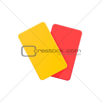 Football yellow and red card.