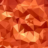 Atomic Tangerine Orange Abstract Low Polygon Background