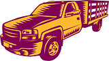 Pick-up Truck Woodcut