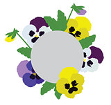 Vector Pansies Flowers