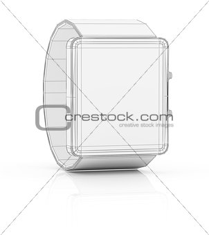 Smart watch prototype, template for design