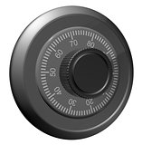 Safe combination lock. Knob with figures
