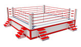 Boxing ring isolated on white background