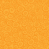 Seamless pattern with curls on orange background.