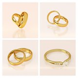 Golden wedding rings set