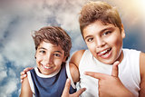 Happy boys portrait