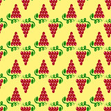 Grapes Seamless Pattern. Vine Background