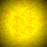 Yellow Background with Geometric Triangles
