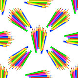 Colorful Pencils Seamless Pattern